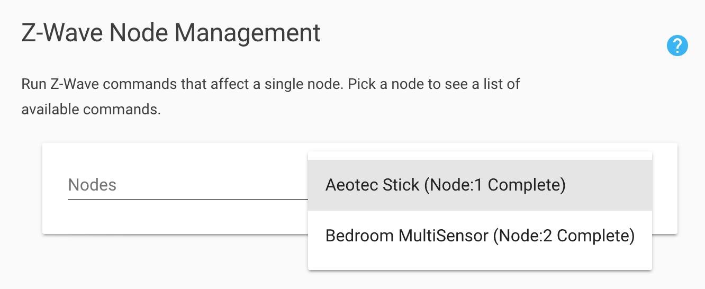 Z-Wave Node Management
